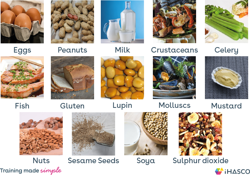14 Food Allergens