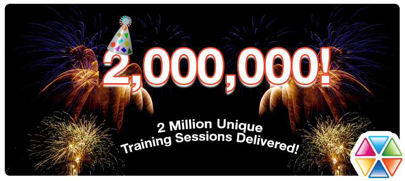 We've delivered over 2,000,000 unique training sessions!