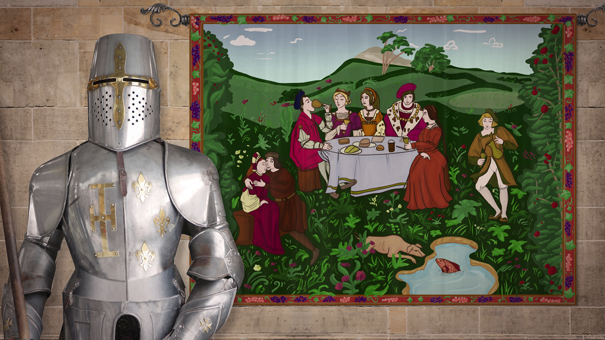 A screenshot from our Asbestos Awareness Training v2 (Medieval Times)