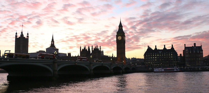 Big Ben in the London sunset