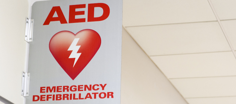 Defibrillator in the workplace