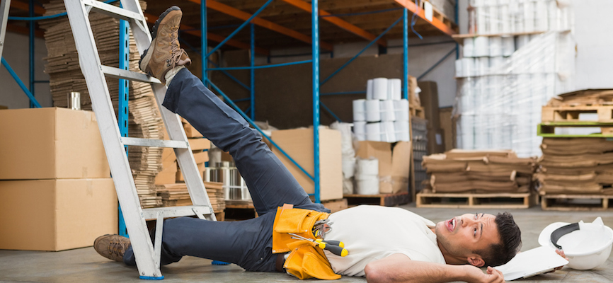 Avoiding falls in a warehouse