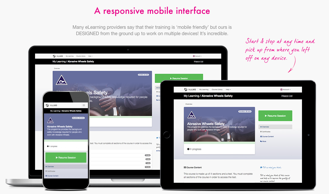 New mobile responsive training suite