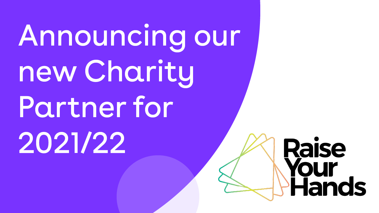 Announcing our new Charity Partner for 2021/22