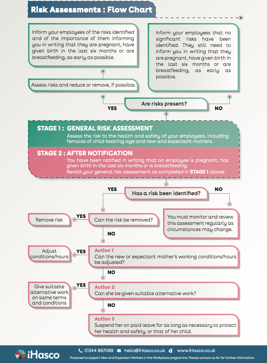 Risk assessment flow chart for new and expectant mothers