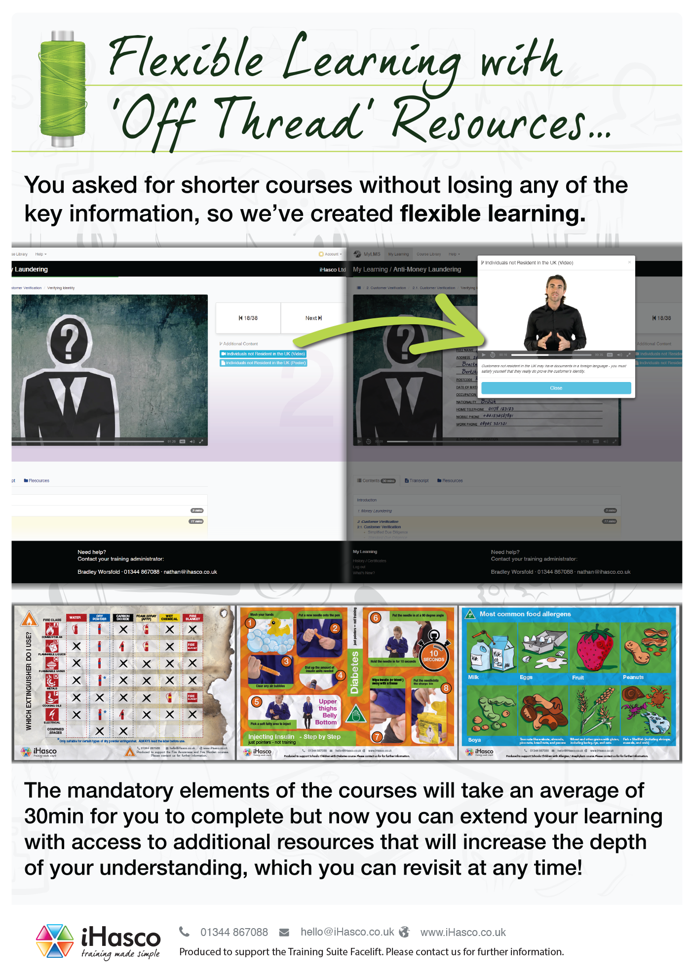 You asked for shorter courses without losing any of the key information, so we've created flexible learning.