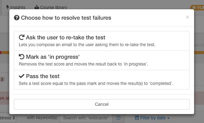 Resolve test failures