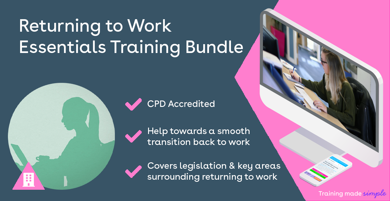 Returning to work essential training bundle