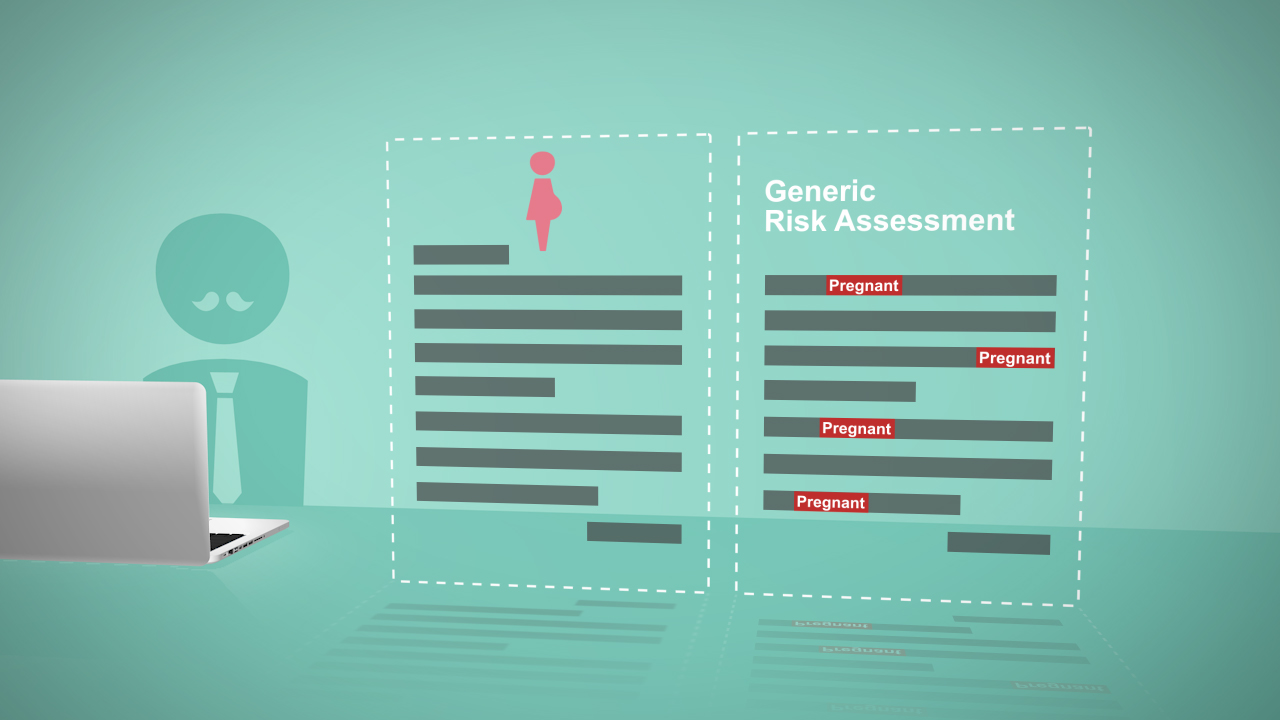 A risk assessment including risks to new & expectant mothers