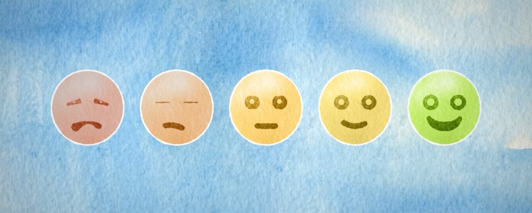 Faces to represent how stress can affect your moods - Stress Awareness v2