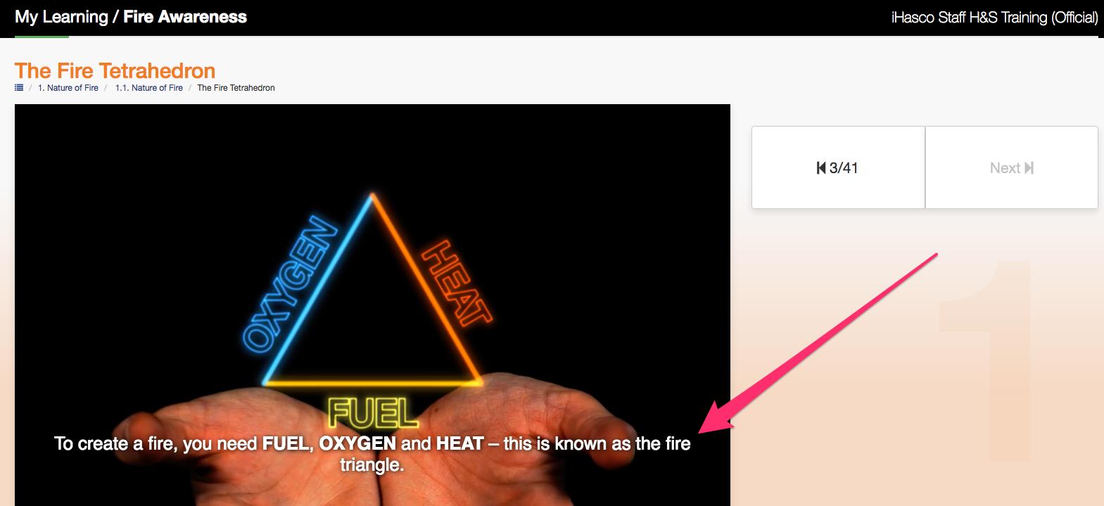 Subtitles on Fire Awareness Training