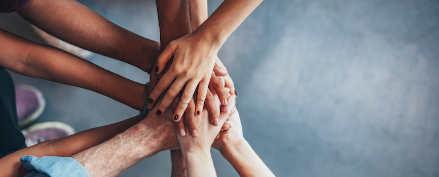 Team culture - all hands together