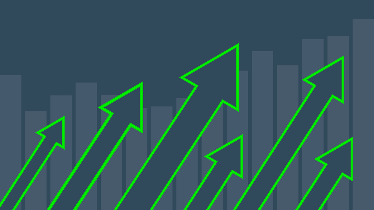 Arrows projecting the growth of eLearning