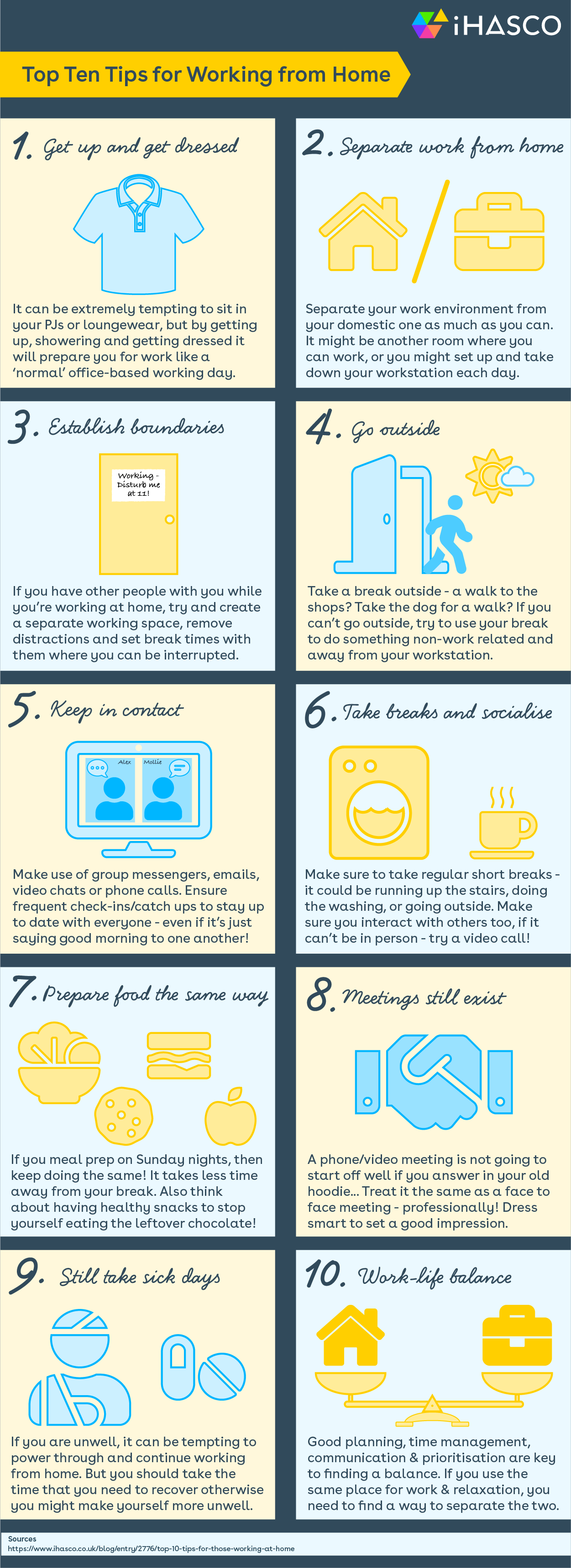 Working from Home Infographic
