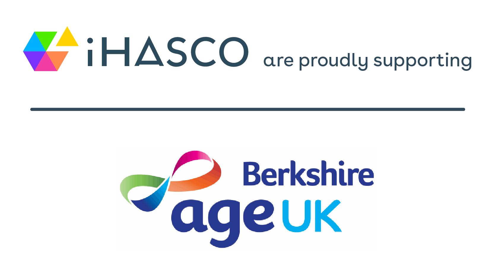 Age UK Berkshire logo and iHASCO logo to announce new charity partnership