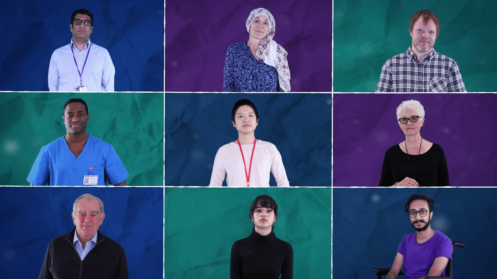 A montage of social and health care workers, taken from one of iHASCO's care certificate courses.