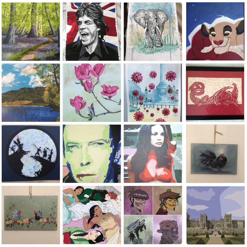 16 artwork pieces for iHASCO's charity art auction