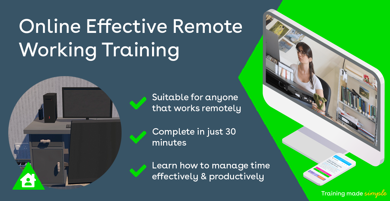 iHASCO's online Effective Remote Working training course