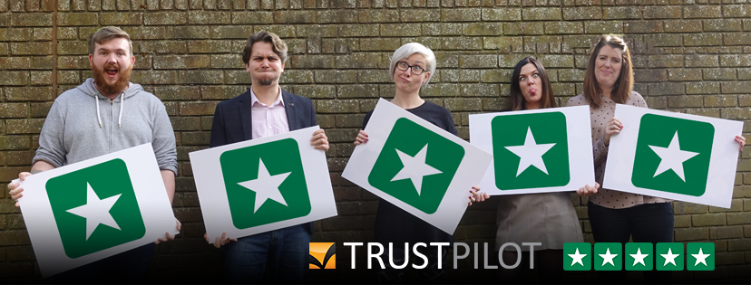We're rated as an 'excellent' company on TrustPilot!