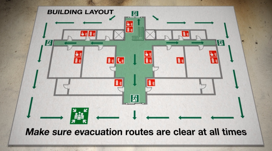 Fire Evacuation Layout