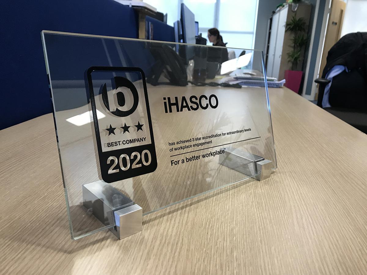 iHASCO's Best Companies Plaque