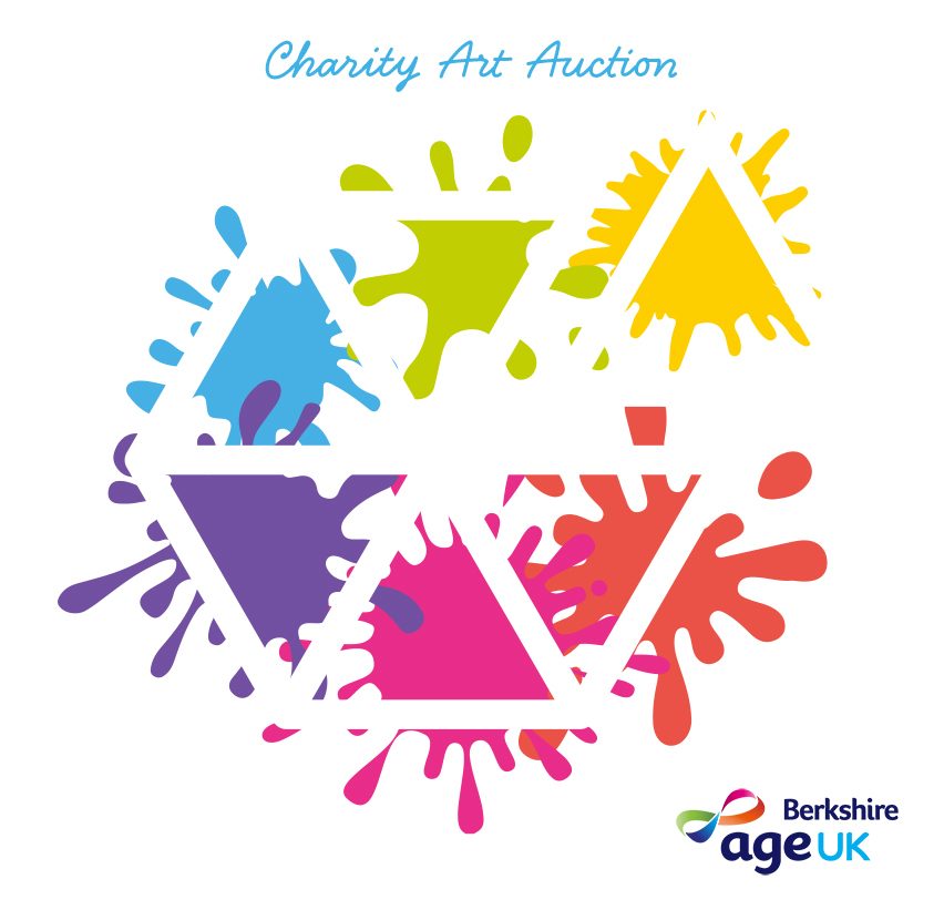 iHASCO logo with paint splashes for charity art auction