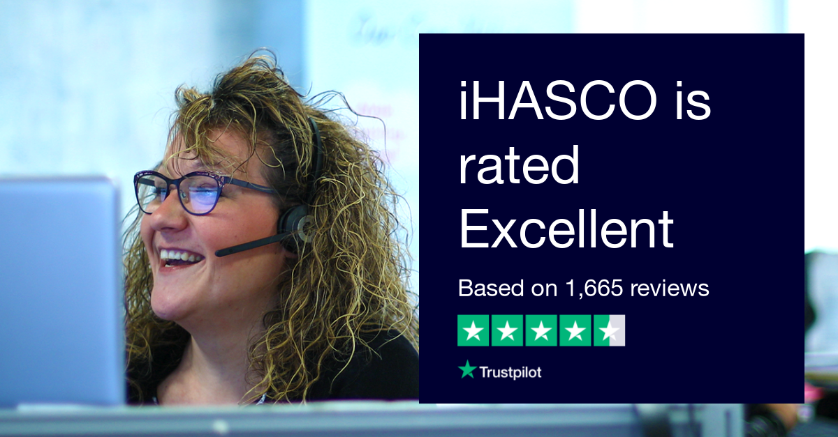 iHASCO is rated 'Excellent' on Trustpilot