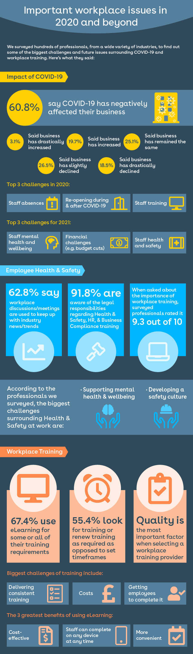 2020 Workplace Survey Infographic