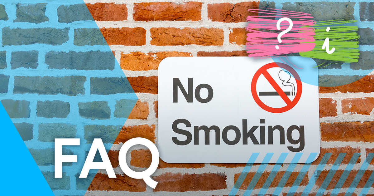 Is smoking permitted in fire assembly areas?