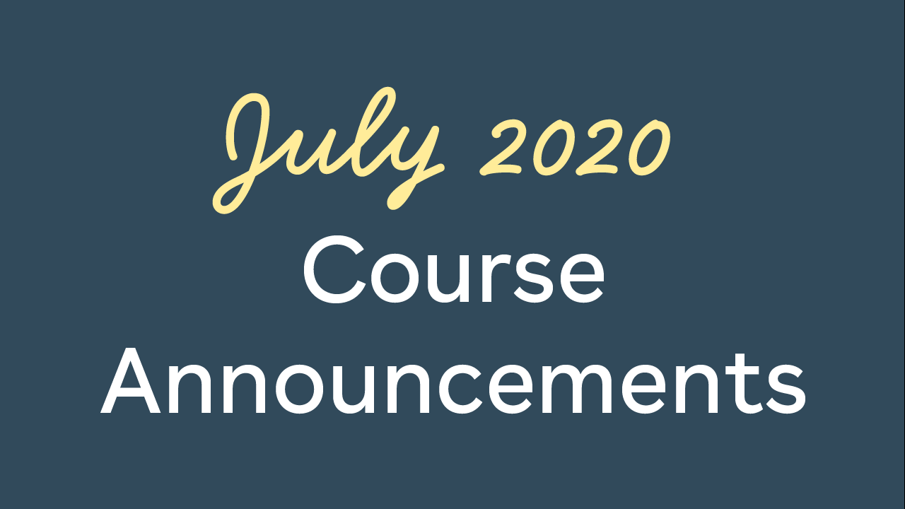Course announcements for this july
