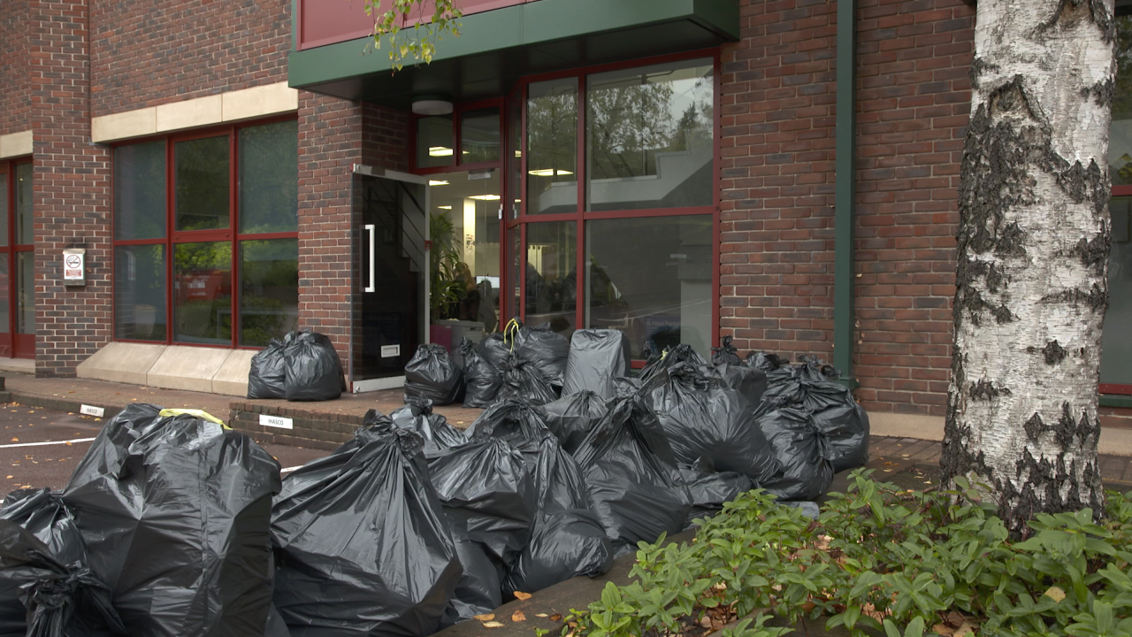 Landfill Waste created from Office Buildings