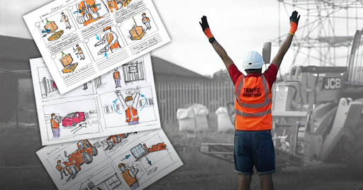 Storyboards of our Banksman course