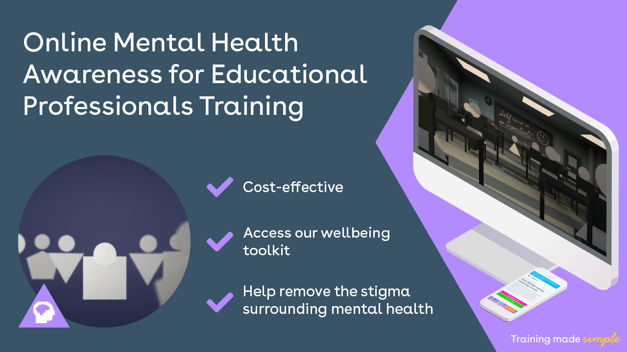 Online mental health awareness in education training