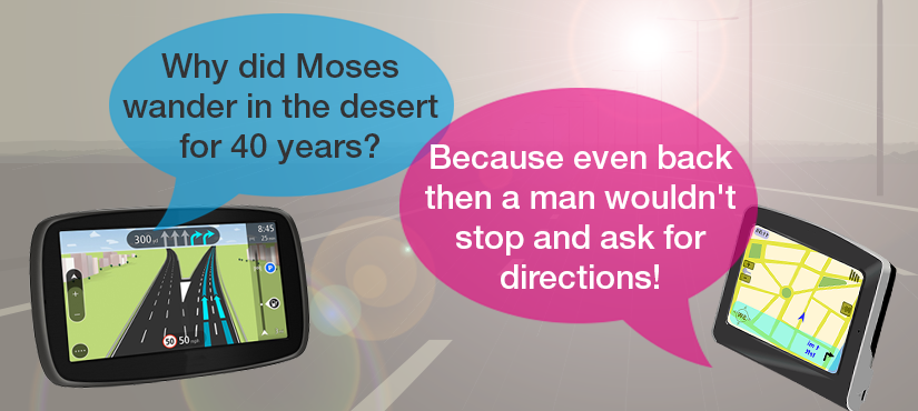 Why was Moses lost in the desert for 40 years?