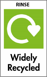 Rinse & Widely Recycled Logo