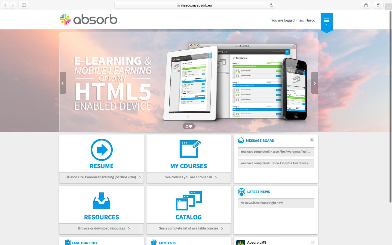 Screenshot of Absorb's LMS