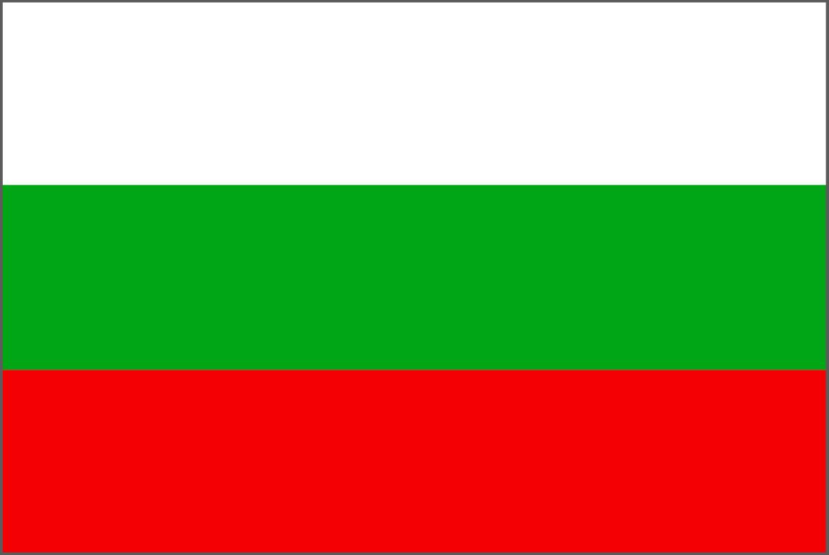 The Bulgarian flag.