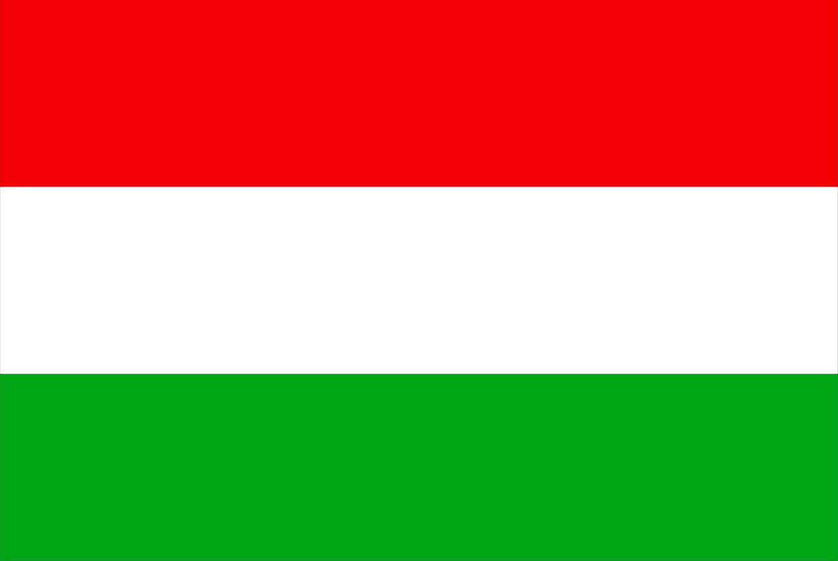 The Hungarian flag.