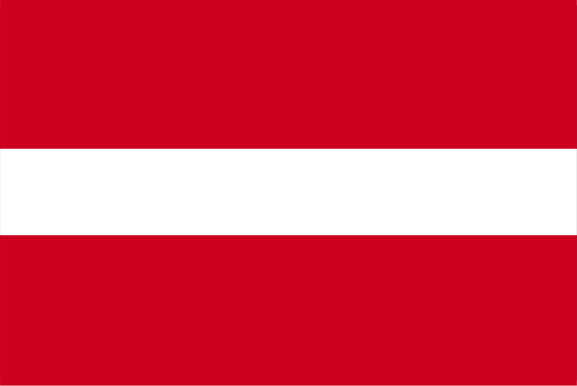 The Latvian flag.