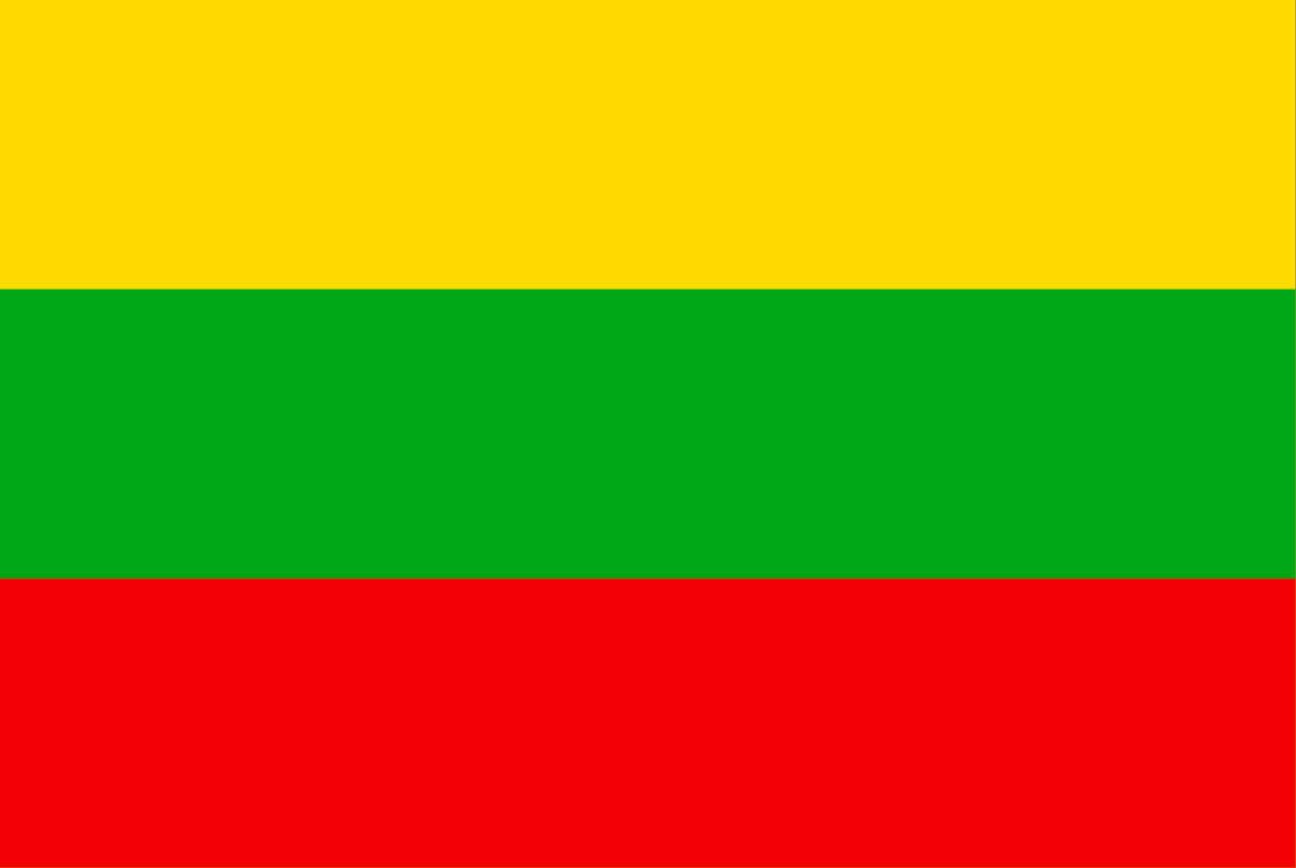 The Lithuanian flag.
