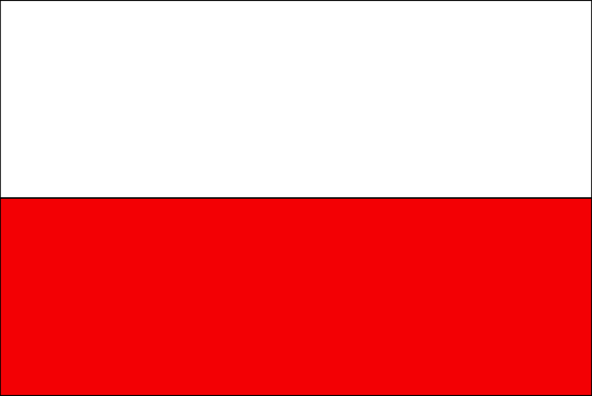 The Polish flag.