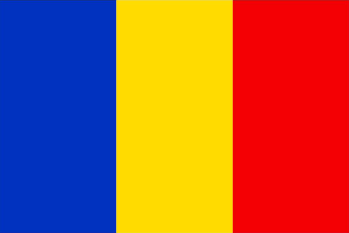 The Romanian flag.
