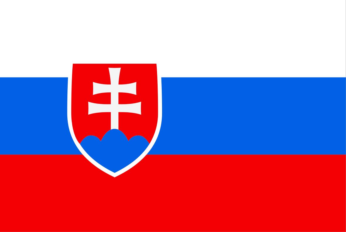The Slovakian flag.