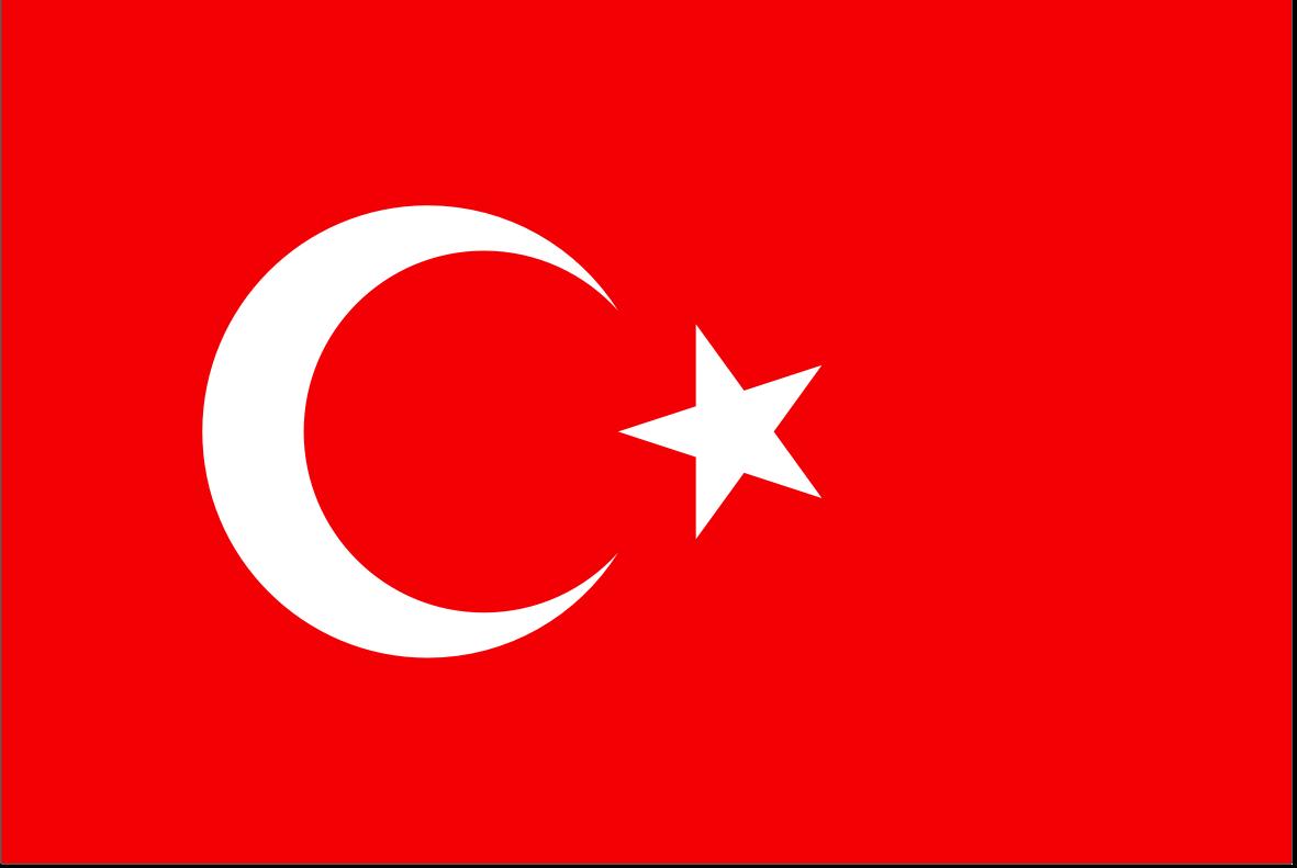 The Turkish flag.