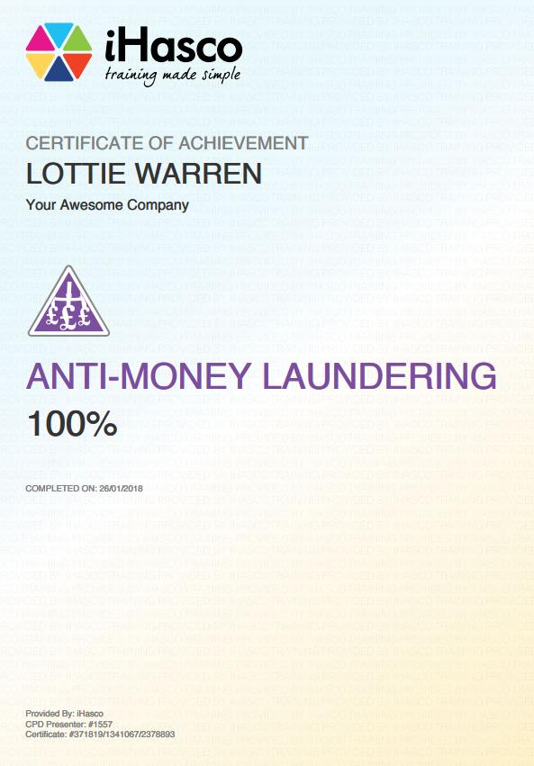 Anti Money Laundering Training Online Course Ihasco