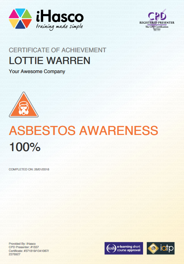 Online Asbestos Awareness Training | IATP Approved | iHasco