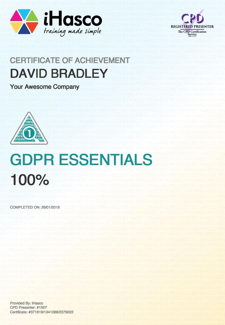 Online GDPR Training | The Essentials of GDPR | iHasco
