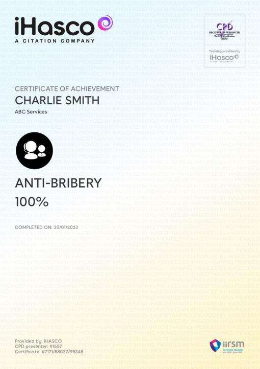 Anti-Bribery Training