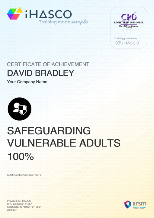 Safeguarding Vulnerable Adults (SOVA) Training