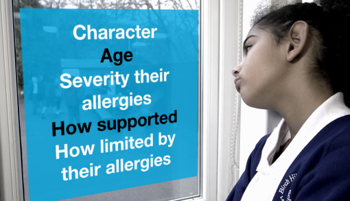 In section 5 of our children with anaphylaxis and allergies training for schools, we look at the negative impact that allergies can have on children and their education.